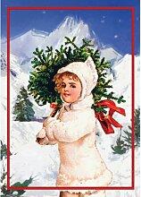 GMM Weihnachtskarte mit Schnee Motiv, DIN A6