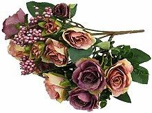 GMMH 15 Rosen Bund 27 cm Hoch Seidenblumen