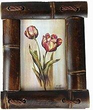 GMMH Bilderrahmen aus Bambus Design 12 a Holz Foto