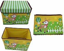 GMMH Design Spielzeugbox Hirsch 38 cm x 26 cm x 27