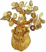 GMMH Feng Shui Glücksbaum 17 cm Geldbaum Bonsai