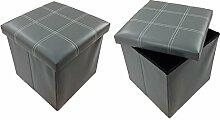 GMMH Hocker Sitzhocker 38 x 38 x 38 cm Box