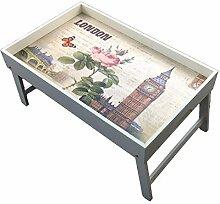 GMMH Original Laptop London Tablett Holz Unterlage