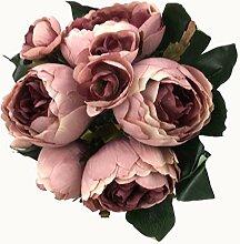 GMMH Pfingstrosen Bund 32 cm Seidenblumen