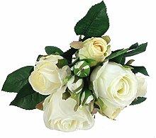 GMMH Rosen Bund 30 cm Seidenblumen Kunstblumen