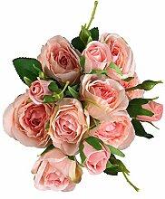 GMMH Rosen Bund 46 cm Seidenblumen Kunstblumen