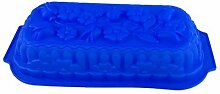 GMMH Silikonbackform Blumenstrauß blau Kuchen