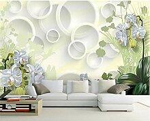 GMYANBZ Blaue Blumen-Foto-Tapete Moderne große