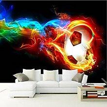 GMYANBZ Kühle Farbe Flammenfußball 3D Fototapete