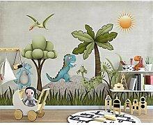 GMYANBZ Tapete für Wände Karikatur Dinosaurier