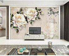 GMYANBZ Tapete-Klassische Elegante weiße Rose