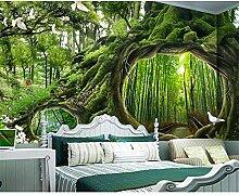 GMYANBZ Tapete Wandbild Magic Forest Tree Cafe
