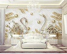 GMYANBZ Tapete-Wanddekoration-Hintergrund-Goldener
