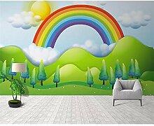 GMYANBZ Wandtapete handgemalte Regen Regenbogen