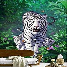 GMYANBZ Weißer Tiger Dschungels Tapete eine
