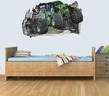 GNG Monster Truck Welt 3D Kinder Wand Kunst