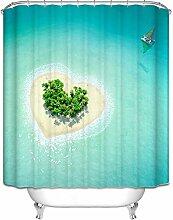 Gnzoe Duschvorhang 90x180CM Bad Vorhang