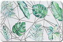 Gnzoe Kieselgur Teppiche Blatt Muster Design