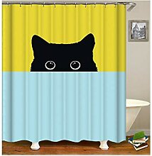 Gnzoe Polyester Bad Vorhang Frech Katze Muster