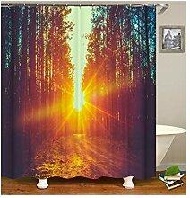 Gnzoe Polyester Bad Vorhang Wald Muster Design