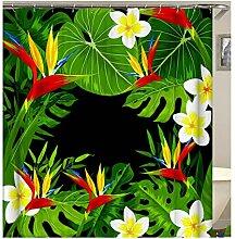 Gnzoe Polyester Badewanne Vorhang Blumen Blätter