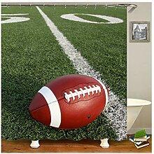 Gnzoe Polyester Badewanne Vorhang Fußball Muster