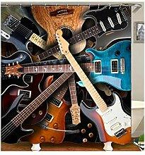 Gnzoe Polyester Badewanne Vorhang Gitarre