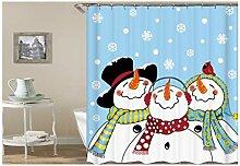Gnzoe Polyester Badewanne Vorhang Happy Schneemann