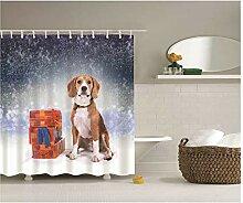 Gnzoe Polyester Badewanne Vorhang Hund Muster