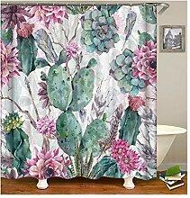 Gnzoe Polyester Badewanne Vorhang Kaktus Muster