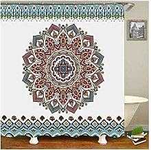 Gnzoe Polyester Badewanne Vorhang Mandala