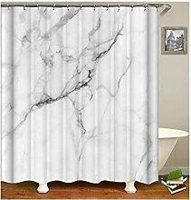 Gnzoe Polyester Badewanne Vorhang Marmorkorn