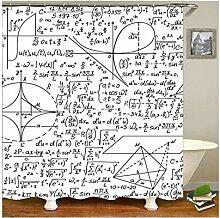 Gnzoe Polyester Badewanne Vorhang Mathematik