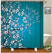 Gnzoe Polyester Badewanne Vorhang Pflaume Blumen