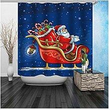 Gnzoe Polyester Badewanne Vorhang Santa Claus