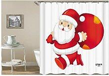 Gnzoe Polyester Badewanne Vorhang Santa Muster