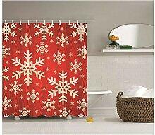 Gnzoe Polyester Badewanne Vorhang Schneeflocke