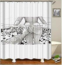 Gnzoe Polyester Badewanne Vorhang Sexy Mädchen