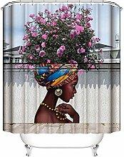 Gnzoe Polyester Duschvorhang Afrikanische Mädchen
