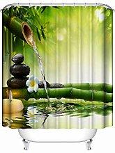 Gnzoe Polyester Duschvorhang Bambus Fließen