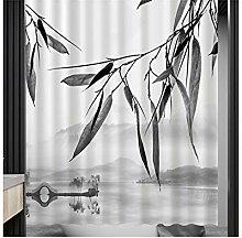 Gnzoe Polyester Duschvorhang Bambus Muster Design