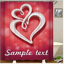 Gnzoe Polyester Duschvorhang Beispieltext Muster