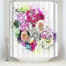 Gnzoe Polyester Duschvorhang Blumen Muster Design
