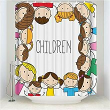 Gnzoe Polyester Duschvorhang Kinder Muster Design