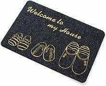 Gnzoe Polyester Teppiche Home Schuhe C Muster