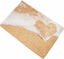 Gnzoe Polyester Teppiche Love Strand Muster Design