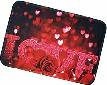 Gnzoe Polyester Teppiche Rose Muster Design