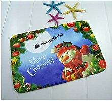 Gnzoe Polyester Teppiche Weihnachten Schneemann