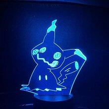 Go Mimikyu Figur Baby Nachtlicht Led Farbwechsel