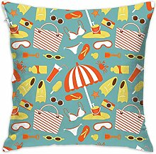 Go to Beach On Vacation Throw Pillow Covers